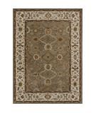 RugStudio presents Rugstudio Sample Sale 37768R Khaki-Ivory Hand-Tufted, Better Quality Area Rug