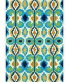 RugStudio presents Rugstudio Sample Sale 66687R Ivory-Blue Hand-Hooked Area Rug