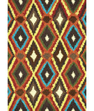 RugStudio presents Rugstudio Sample Sale 66689R Brown-Multi Hand-Hooked Area Rug