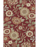 RugStudio presents Loloi Francesca Fc-02 Red Hand-Hooked Area Rug