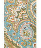 RugStudio presents Loloi Francesca Fc-09 Blue / Green Machine Woven, Good Quality Area Rug