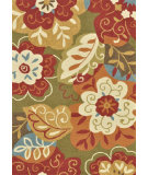 RugStudio presents Loloi Francesca Fc-13 Green / Multi Hand-Hooked Area Rug