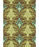 RugStudio presents Loloi Francesca Fc-15 Brown / Green Machine Woven, Good Quality Area Rug