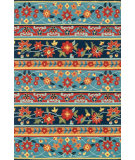 RugStudio presents Loloi Francesca Fc-23 Blue / Multi Hand-Hooked Area Rug