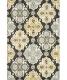 RugStudio presents Loloi Francesca Fc-25 Charcoal / Multi Hand-Hooked Area Rug