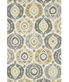 RugStudio presents Rugstudio Sample Sale 92103R Ivory / Graphite Hand-Hooked Area Rug