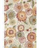 RugStudio presents Loloi Francesca Fc-32 Ivory / Spice Hand-Hooked Area Rug
