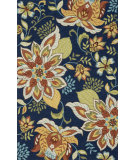 RugStudio presents Loloi Francesca Fc-34 Blue / Floral Hand-Hooked Area Rug
