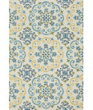 RugStudio presents Loloi Francesca Fc-35 Ivory / Light Blue Hand-Hooked Area Rug