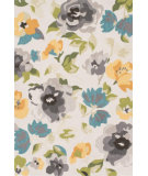 RugStudio presents Loloi Francesca FC-39 Grey / Yellow Hand-Hooked Area Rug