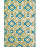 RugStudio presents Loloi Francesca FC-46 Lime / Blue Hand-Hooked Area Rug