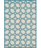 RugStudio presents Loloi Francesca FC-47 Ivory / Sea Hand-Hooked Area Rug