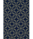 RugStudio presents Loloi Francesca FC-41 Navy / Green Hand-Hooked Area Rug