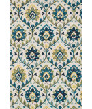 RugStudio presents Loloi Francesca Fc-45 Ivory - Blue Woven Area Rug