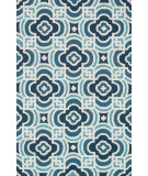 RugStudio presents Loloi Francesca FC-46 Blue / Turquoise Hand-Hooked Area Rug