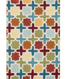 RugStudio presents Loloi Francesca FC-49 Red / Multi Hand-Hooked Area Rug