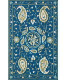RugStudio presents Loloi Francesca FC-53 Blue / Green Hand-Hooked Area Rug
