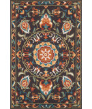 RugStudio presents Loloi Francesca Fc-54 Brown - Green Hand-Hooked Area Rug