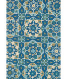 RugStudio presents Loloi Francesca Fracfc-55 Blue / Yellow Hand-Hooked Area Rug