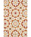 RugStudio presents Loloi Francesca FC-55 Ivory / Spice Hand-Hooked Area Rug