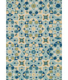 RugStudio presents Loloi Francesca FC-55 Turquoise / Sea Hand-Hooked Area Rug