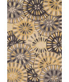 RugStudio presents Loloi Gabriella GB-07 Grey / Gold Hand-Hooked Area Rug