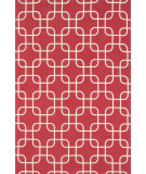 RugStudio presents Loloi Geo Geo0geo01reiv Red / Ivory Flat-Woven Area Rug