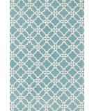 RugStudio presents Loloi Geo GE-02 Blue / Ivory Flat-Woven Area Rug