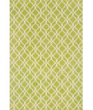 RugStudio presents Loloi Geo GE-03 Apple Green / Ivory Flat-Woven Area Rug