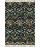 RugStudio presents Loloi Aria Ariahar01gybb Grey / Blue Flat-Woven Area Rug
