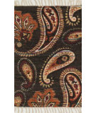 RugStudio presents Loloi Aria AR-08 Chocolate / Rust Flat-Woven Area Rug