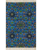 RugStudio presents Loloi Aria Ariahar09bb00 Blue Flat-Woven Area Rug