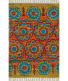 RugStudio presents Loloi Aria AR-11 Orange / Multi Flat-Woven Area Rug