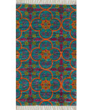 RugStudio presents Loloi Aria AR-13 Blue / Orange Flat-Woven Area Rug