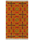 RugStudio presents Loloi Aria AR-13 Orange / Multi Flat-Woven Area Rug