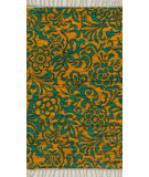 RugStudio presents Loloi Aria Ariahar14llte Lime / Teal Flat-Woven Area Rug