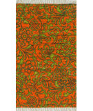 RugStudio presents Loloi Aria AR-14 Orange / Lime Flat-Woven Area Rug