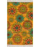 RugStudio presents Loloi Aria AR-15 Yellow / Orange Flat-Woven Area Rug
