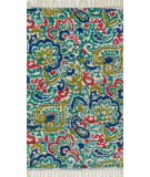 RugStudio presents Loloi Aria AR-16 Blue / Multi Flat-Woven Area Rug