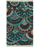 RugStudio presents Loloi Aria AR-17 Aqua / Multi Flat-Woven Area Rug