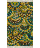 RugStudio presents Loloi Aria Ariahar17pxye Peacock / Yellow Flat-Woven Area Rug