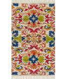 RugStudio presents Loloi Aria AR-18 Ivory / Multi Flat-Woven Area Rug