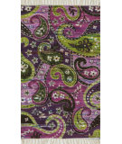 RugStudio presents Loloi Aria Ariahar23puml Purple / Multi Flat-Woven Area Rug