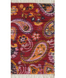 RugStudio presents Loloi Aria AR-25 Pink / Gold Flat-Woven Area Rug
