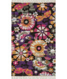 RugStudio presents Loloi Aria AR-26 Violet / Gold Flat-Woven Area Rug