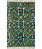 RugStudio presents Loloi Aria Ariahar27bbll Blue / Lime Flat-Woven Area Rug