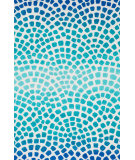 RugStudio presents Loloi Cassidy CD-09 Aqua / Blue Machine Woven, Good Quality Area Rug
