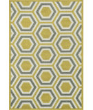 RugStudio presents Loloi Catalina CF-01 Citron / Grey Machine Woven, Good Quality Area Rug