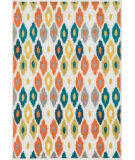 RugStudio presents Loloi Catalina CF-03 Ivory / Multi Machine Woven, Good Quality Area Rug