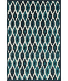 RugStudio presents Loloi Catalina CF-03 Peacock / Ivory Machine Woven, Good Quality Area Rug